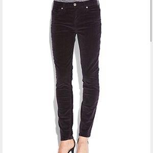 Lucky Sofia Skinny Black Corduroy Jeans 6